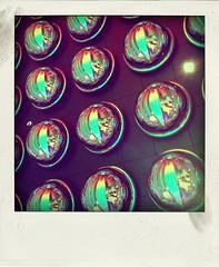 Bubbles (bredgur) Tags: show vegas music love glass polaroid hotel rainbow 60s colorful lasvegas entrance bubbles casino retro resort acrobatics beatles mirage thestrip cirquedusoleil thebeatles iphone themirage poladroid thebeatleslove