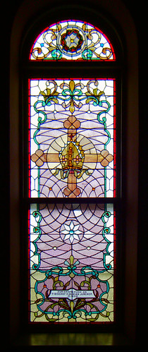 Saint Joseph Roman Catholic Church, in Meppen, Illinois, USA - stained glass window