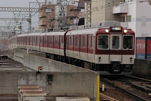 Kintetsu8100series in Fuse,Higashi-Osaka,Osaka,Japan 2008/11/29