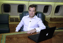 Medvedev and his Macbook