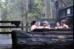 (Prance & Swagger) Tags: travel trees ladies girls sky nature water oregon forest river naked nude portland relax moss bath natural hiking getaway trail soak tub mthood bagby hotsprings estacada girlsclub