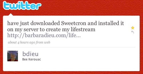 Twitter / Bee Kerouac: have just downloaded Sweetcron