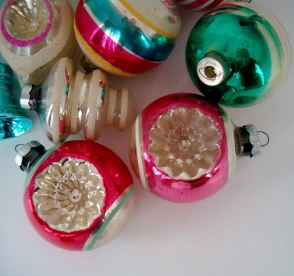 VINTAGE MERCURY GLASS ORNAMENTS #2