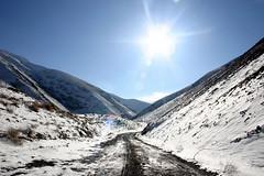 (Reza-ir) Tags: sun mountain snow nature way iran mashhad khorasan            gholmakan