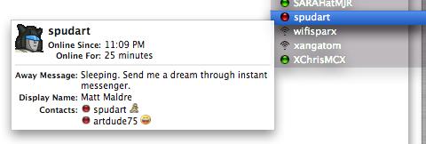 Send me a dream through instant messenger
