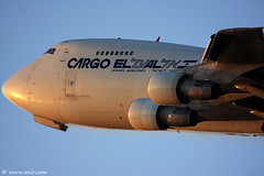 747 Freighter heavy and flat takeoff (xnir) Tags: canon photography eos israel is al photographer aircraft aviation air flight cargo boeing 747 freighter nir elal  747200 100400l benyosef 100400 llbg xnir idfaf  photoxnirgmailcom
