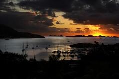 Sunrise (bvi4092) Tags: travel silhouette sunrise landscape dawn nikon caribbean tortola contrejour bvi intothelight d40