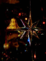 Christmas Star (Weeping-Willow Photography) Tags: christmas tree lights star bell christmastree baubles pfogold pfosilver photofaceoffgoldmedalwinner photofaceoffsilvermedalwinner pfoisland05