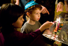 IMG_0175 (jetrotz) Tags: light kids candle chinesefood takeout christmaseve simons hanukkah menorah hanukkiah