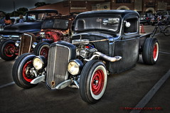 Family Rat / Triumvirate (Mtnguyd) Tags: friends white hot classic ass car wall truck vintage naked cool nikon rat whitewalls texas antique awesome badass bad houston pickup tires rockabilly rod hdr coe ratrod d300 photomatix mtnguyd