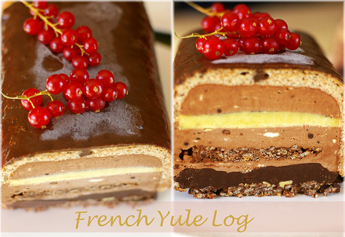 french yule log