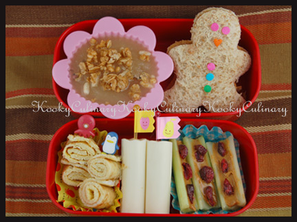 Bento #50 - Gingerbread Boy n More