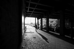 (atomareaufruestung) Tags: city winter shadow urban berlin silhouette by shot skateboarding tunnel bn skateboard sw invierno friedrichshain 2009 skateboarder brrr ksd atomareaufruestung