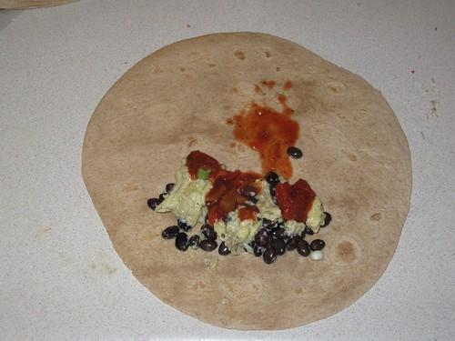 Assembling a burrito 1