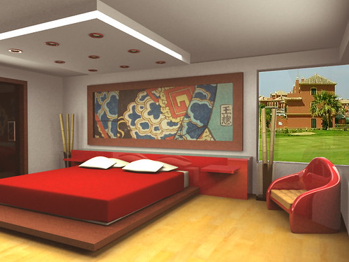 Bedroom Interior Design Red Viewpoint