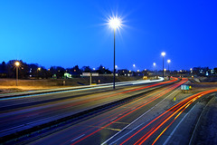 Pre-daybreak (Gary Simmons) Tags: light ontario sunrise highway trails kitchener expressway burst