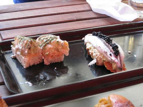 salmon y boquerones