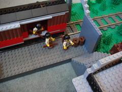 Train station (Arcon.) Tags: train lego wwii brickarms brickforge