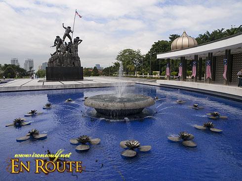 Tugu Negara Monument and fountain