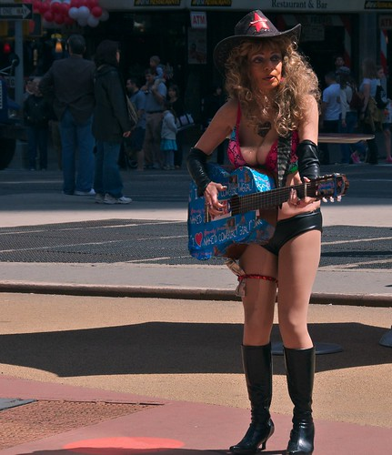 newyork hat boots guitar manhattan tourists timessquare nakedcowgirl