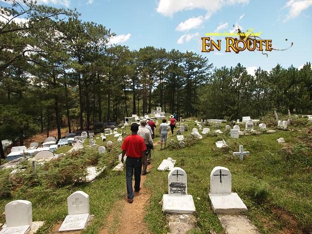 Passing through the Sagada Cemetery