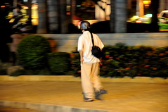 Pedestrian with helmet #1