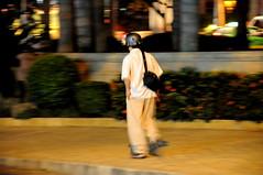 Pedestrian with helmet #1