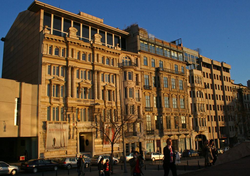 Buildings on Mesrutiyet Caddesi, Istanbul, including Pera Museum