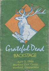 Grateful Dead backstage pass - 4/3/86 Hartford Civic Center, Hartford, Connecticut
