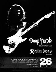 rising-afiche-26abril (Rising Tributo a Rainbow en Chile) Tags: rising rainbow purple abril deep vivo tributo