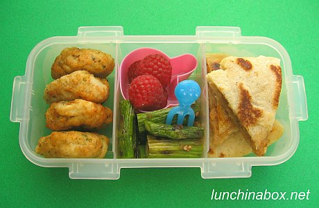 Pupusa bento lunch for preschooler