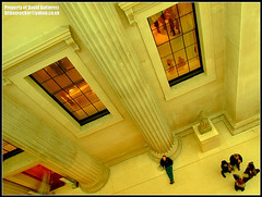 Relaxing in the Art World of London British Museum (david gutierrez [ www.davidgutierrez.co.uk ]) Tags: city uk travel people urban building london art yellow museum architecture buildings spectacular geotagged photography design photo arquitectura cityscape angle image interior centre perspective relaxing