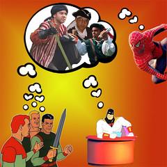 dream (BlacktouchYellow) Tags: selfportrait comic spiderman spaceghost actor heroes rocketrobinhood