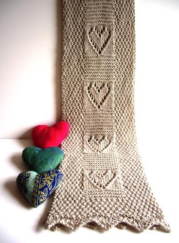 Комментарий: узоры для шарфа спицами.