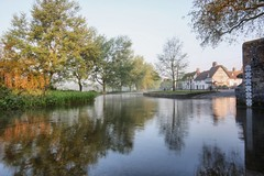 Morning at the ford (Linda Cronin) Tags: morning trees light house mist reflection ford water river early reflexions soe riverdarent eynsford flickrsbest challengeyouwinner mywinners anawesomeshot ourplanet lindacronin thatsclassy friendlychallenges rubyphotographer pregamewinner