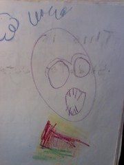 First Grade Journal drawing of The Skull