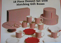 18 Piece Candy Cane Stripe Dessert Set