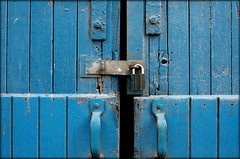 Locked... (olfda) Tags: door blue canon locked picnik 400d