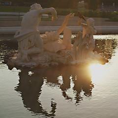 Abendstimmung - Belvedere (Elisa1963  nature art peace) Tags: vienna wien sunset reflection architecture night austria sterreich belvedere spiegelung abendstimmung  anawesomeshot elisa1963