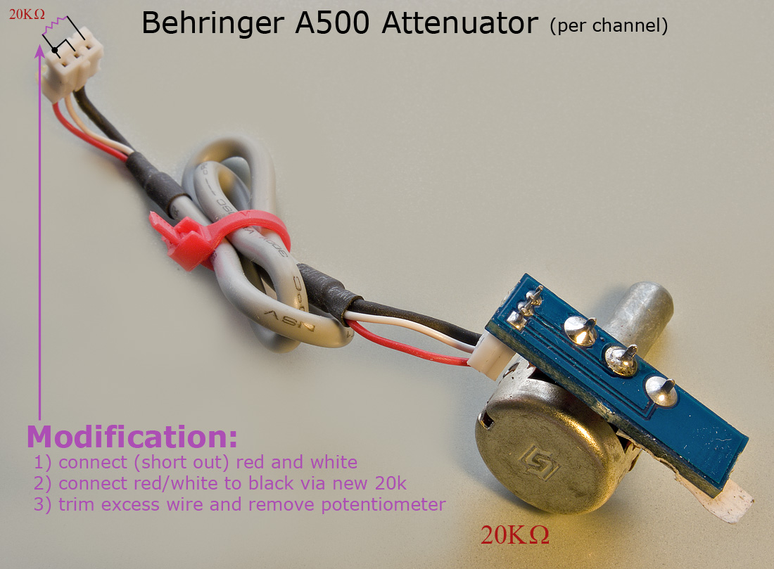 Modifiche Behringer A500 2650432864_9244fd9472_o
