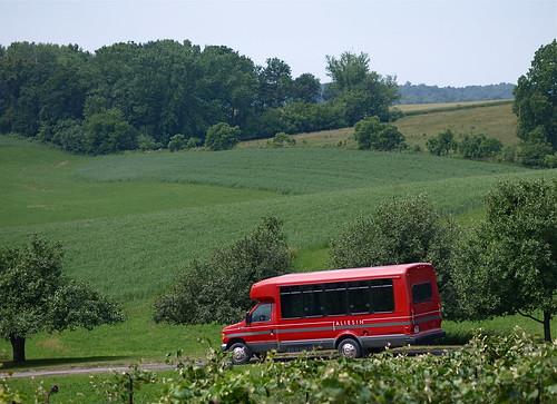 Red Taliesin Bus