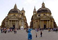 Piazza del Popolo (rebol) Tags: roma geometrico del piazza popolo prospettiva