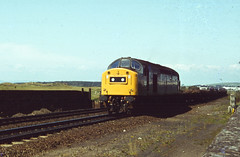 Unidentified class 40 approaching Prestwick in the mid 70s.  I. Middleditch collection