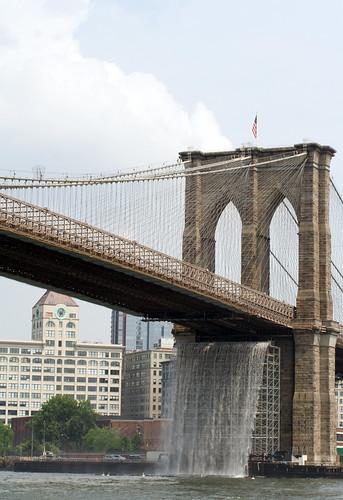 Waterfall & Brooklyn Bridge