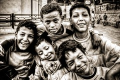 Stories (Khaled A.K) Tags: boys monochrome sepia egypt cairo fantasy khaled hdr