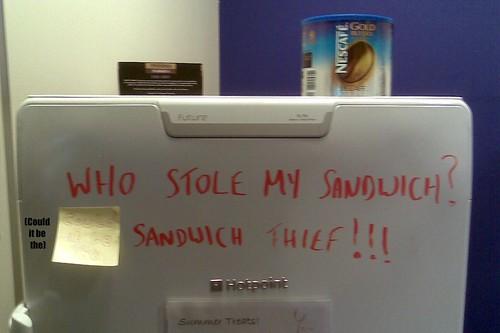 Who stole my sandwich! (Could it be the) SANDWICH THIEF!!