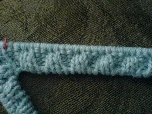 Stocking Stitch Tubular Cast On Detail