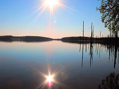 Merrill Creek Reservoir, Harmony, NJ (Peachhead (4,000,000 views!)) Tags: sun reflection newjersey nj flare sunflare skylands warrencounty harmonytownship nwjersey merrillcreekreservoir