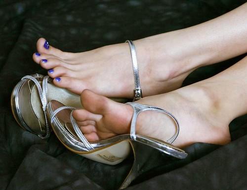 Female feet soles