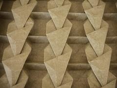 Fututistic Bugnato (reverse particular) (Andrea Russo Paper Art) Tags: sculpture paper design origami tessellation paperfolding papiroflexia andrearusso origamo